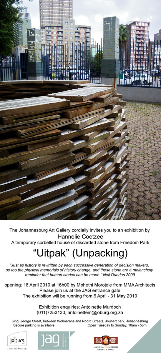 2010 'Uitpak' by Johannesburg Art Gallery